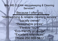 WE CLEANING Housekeeping & Cleaning Services 25 0 869-5812
