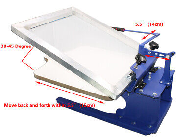 Techtongda Table Type 1 Color Simple Screen Printing Press T-shirt Printer