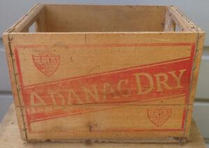 RP2179 Vintage Adanac Dry Soda Pop Wood Wooden Crate Case Kawartha Lakes Peterborough Area image 1