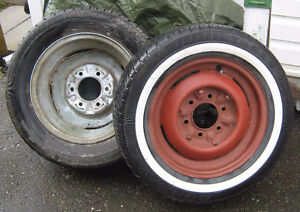 Original Chevy steel 15 inch rims / wheels with hubcap clips ,