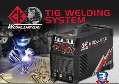 Mt200 Ac Dc Tig Welding System- Wbonus Pkg. Mister Tig Stubby Gas Lens Kit