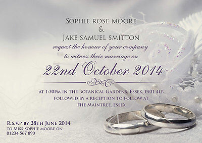 Silver Wedding Invitations and envelopes