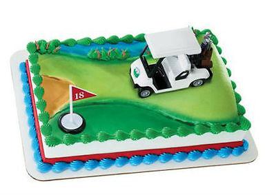 Golf cart Golfing clubs cake decoration Decoset cake topper set toy (Golf Decoration)