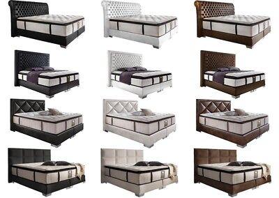 Boxspringbett amerikanisch Hotelbett Luxusbett Design Bett Komplettbett Farbwahl ()