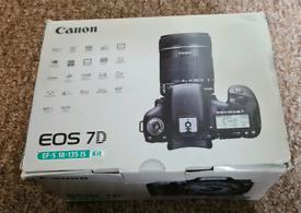 Canon EOS 7D DSLR Digital Camera with 3 Lenses