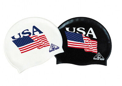 WATER GEAR USA Latex Cap Bath PATRIOTIC AMERICA Swim Flag Pool ONE SIZE 30500
