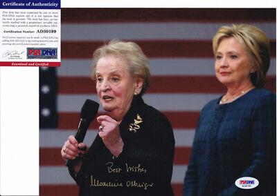 Madeleine Albright Secretary Of State Signed Autograph 8X10 Photo Psa Dna Coa  9