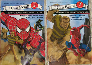 Qty 2 x I Can read Spiderman 3 Book & 5 Toys (Lot #4) London Ontario image 1