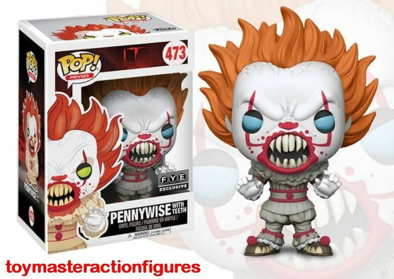 FREE POP PROTECTOR FUNKO POP VINYL IT 2017 PENNYWISE WITH TEETH EXCLUSIVE