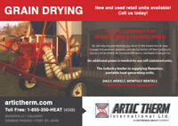 GRAIN DRYING - Daily | Weekly | Monthly RENTALS. *NO MAX HOURS*