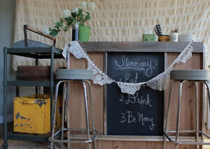 Industrial Styled Bar -- Great for a wedding, party or Home