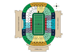 2 Tickets   Notre Dame vs Pittsburgh Pitt South Lower End Zone