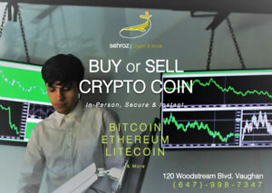 Selling or Buying BITCOIN? In-Person, Secure & Best Rate In ON