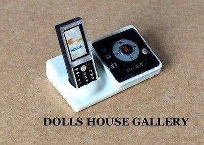 Cordless Phone & Answer Machine Dolls House Miniature 1:12th Scale