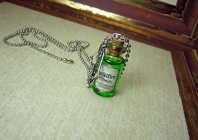 WILDFIRE Glass Vial Bottle Necklace - Westeros Game of Thrones Halloween Charm