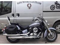 LOVELY 2006 YAMAHA XVS1100 V STAR CLASSIC, 2 OWNERS 21593 MILES,PANNIERS, SCREEN