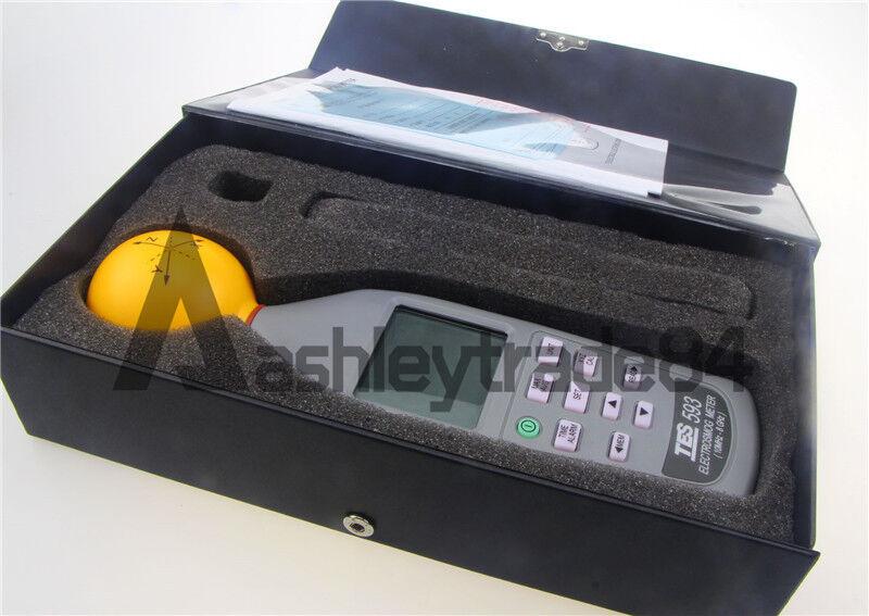 TES-593 ElectroSmog Meter 3 axis isotropic measurements EMF NEW