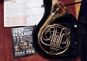 FRENCH HORN- Single F, Like New, 2 Student Books Incl.