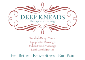 Deep kneads Therapeutic Massage..based in Hove&Shoreham