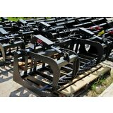 """2018 MTL HD 60"""" Skid Steer Root Grapple Bucket Twin Cylinder-Universal fit"""