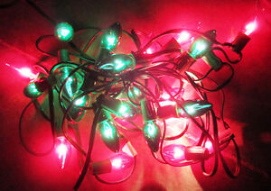 Christmas Lights 25 Bulbs (Red & Green) & 7.3m(24') long Stratford Kitchener Area image 1