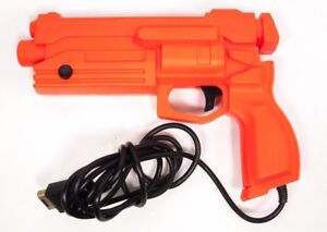 Official Sega Saturn Stunner Light Gun Controller - Orange