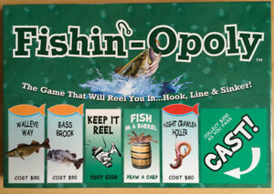 Fishin'n-Opoly - Game that will reel you in Hook, Line, Sinker!