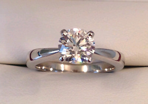 $13,000 GIA 1.25 carat solitaire diamond ring
