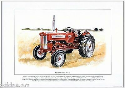 INTERNATIONAL B-414 TRACTOR - FINE ART PRINT - 43 bhp model from 1961 - Farming
