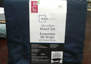 Brand New Mainstays Microfibre Double Size Sheet Set