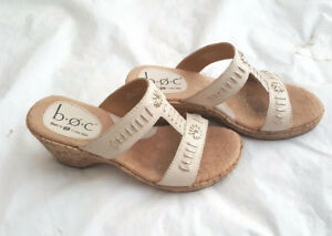 BOC BORN Woman's Cork Summer Sandals - Size 6
