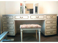 Vintage dressing table (with stool and mirror)