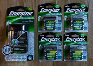 20 BRAND NEW ENERGIZER RECHARGEABLE BATTERIES AND PRO CHARGER
