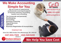 TAX, ACCOUNTING, BOOKKEEPING AND CFOs SERVICES