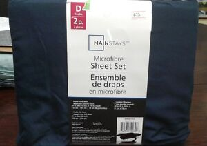 Brand New Mainstays Microfibre Double Size Sheet Set.