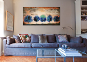 Original large canvas painting ready to hang wall art for sale  Toronto