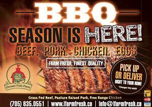 Grass Fed Beef & Pastured Raised Chicken