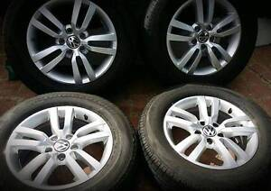Vw Tiguan 16 INCH ALLOY WHEELS 2014 Set❤GENUINE❤5X112 PCD❤A1 SET Georges Hall Bankstown Area Preview