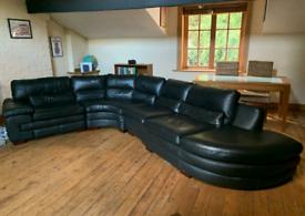 Beautiful 6 seater leather sofa