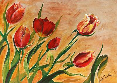 Zilian Tulpen Poster Kunstdruck Bild 50x70cm