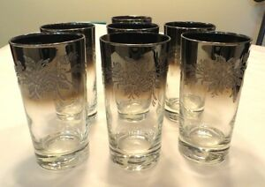 1960's MID CENTURY 7 GLASSES MERCURY OMBRE THEY ARE FANTASTIQUE