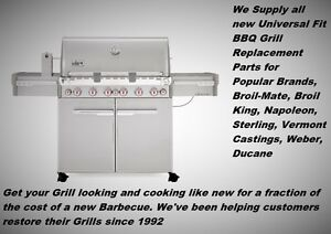 Gas or Propane BBQ Grill Replacement Stainless Burners & Parts