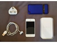 iPod Touch 4th Gen White 64GB + orginal box, USB charging cable & case