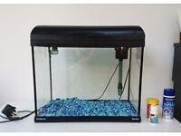 Ecostyle 42 28L Rectangular Aquarium 42W X 26D X 38cm H (Black) Good as new!!