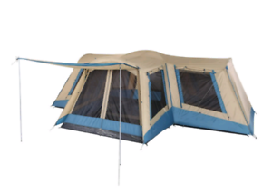 OzTrail Family 12 Dome Tent - 4 rooms 12 man SEVEN HILLS