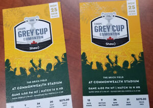 Grey Cup 2018 Tickets 2 excellent seats