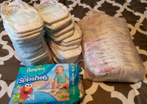 Pampers size 3T - 4T girl Easy Ups and Splashers