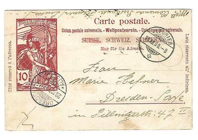 Alte Postkarte - Bildpostkarte - Schweiz - gelaufen 1900 - Dresden