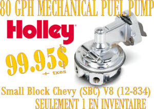 SPECIAL-  HOLLEY-Pompe à Gaz (Fuel Pump) Mechanical 80 GPH 12834