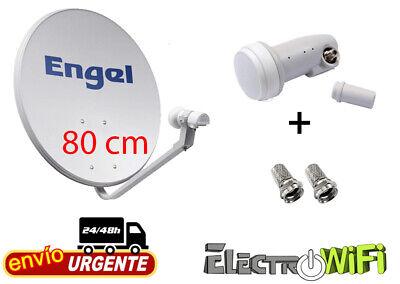 ANTENA SATELITE 80 CM ENGEL + LNB // PARABOLICA DE GRAN CALIDAD